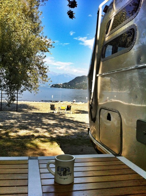 Airstream with coffee